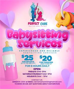 Perfect care babysitting services